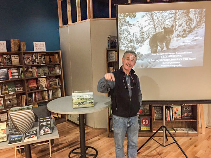 David Quammen at This House of Books, your community-owned, independent bookstore and tea shop in downtown Billings, Montana