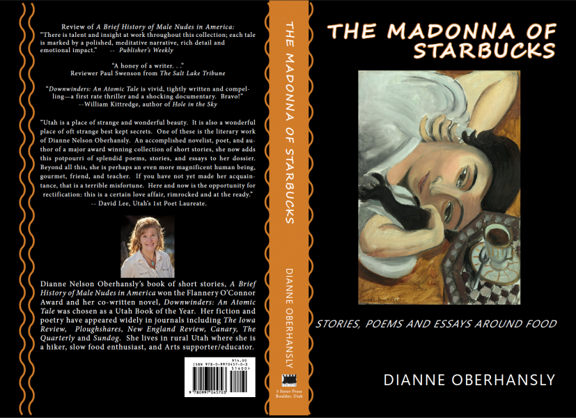 Book cover for The Madonna of Starbucks by Dianne Oberhansly, available at This House of Books, your commmunity-owned bookstore and tea shop in downtown Billings, Montana