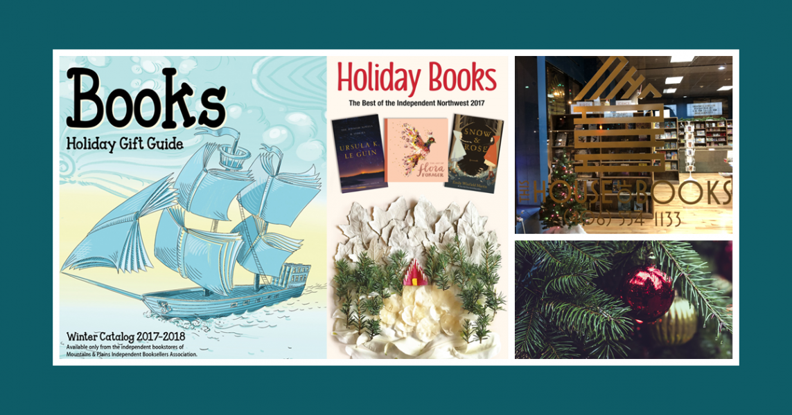 Banner for holiday catalogs for This House of Books, your community-owned, independent bookstore and tea shop in downtown Billings, Montana