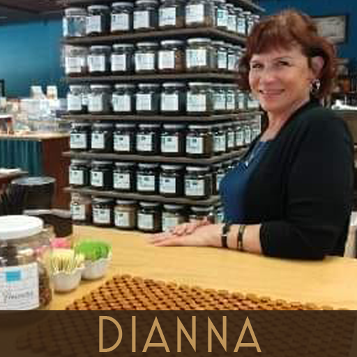 Photograph of Diana, bookseller at This House of Books, a community-owned independent bookstore and tea shop in downtown Billings, Montana