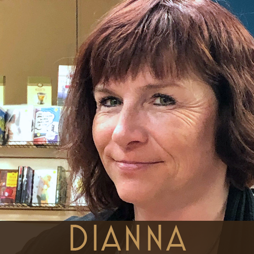 Photograph of Diana, Bookseller at This House of Books, the community-owned independent bookstore and tea shop in downtown Billings Montana
