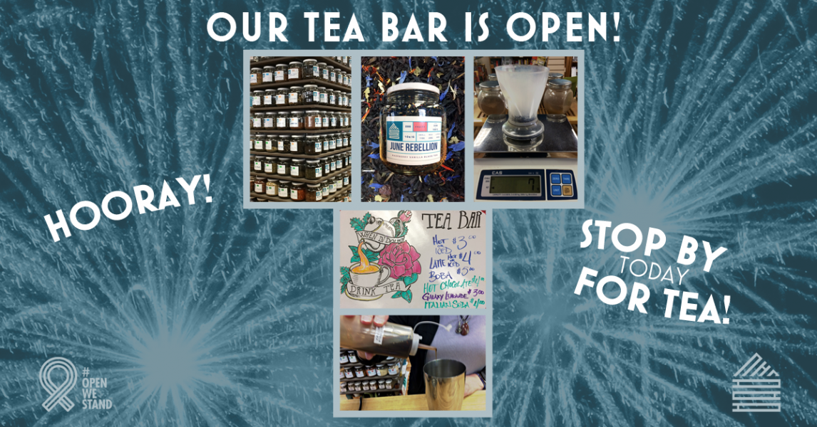 The Tea Bar is open for you at This House of Books, your member-owed, indie bookstore & tea shop in downtown Billings, Montana